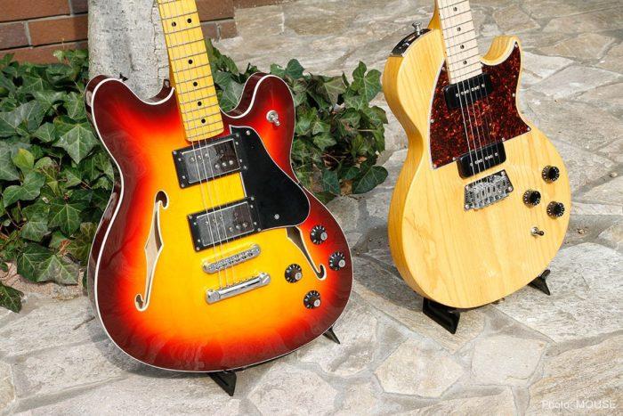 フェンダーとギブソンを間違えそうなデザインのギター