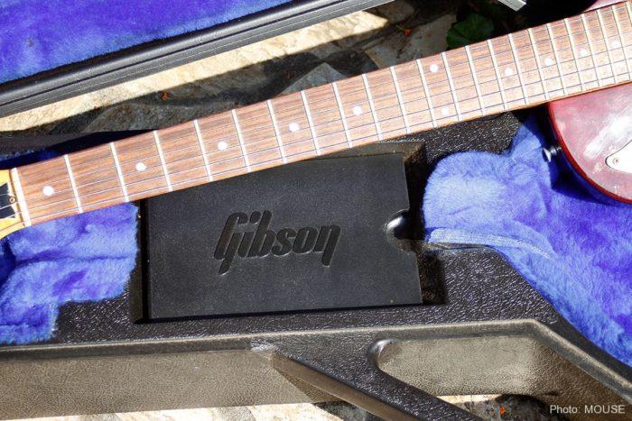 Gibsonロゴ入りのロケットケース