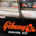 ギブソンのギター弦販売用ディスプレイボックス