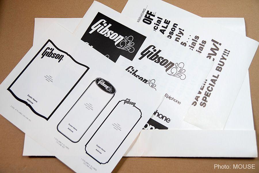 チラシ作成用のGibsonロゴや素材
