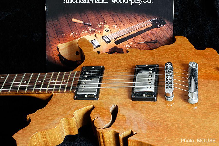 マップギターのボディとパーツ
