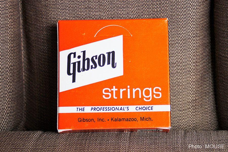 ハンドメイドではなくなったギブソン弦のパッケージ