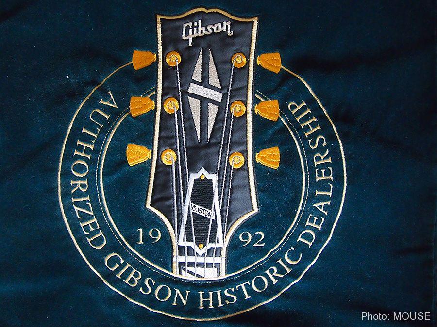 ギブソン・ギターの刺繍
