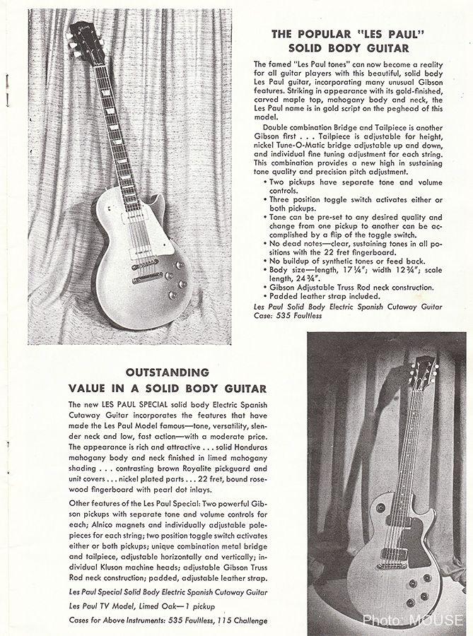 The Popular Les Paulと記載されたレスポール・スタンダード