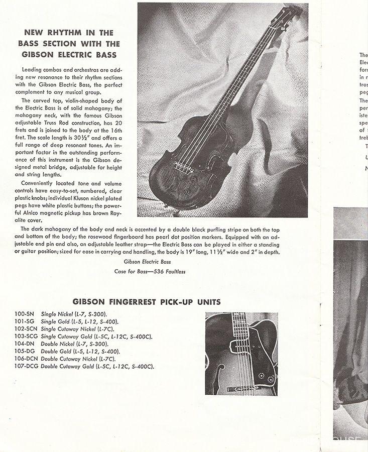 バイオリンシェイプのギブソン・ベース