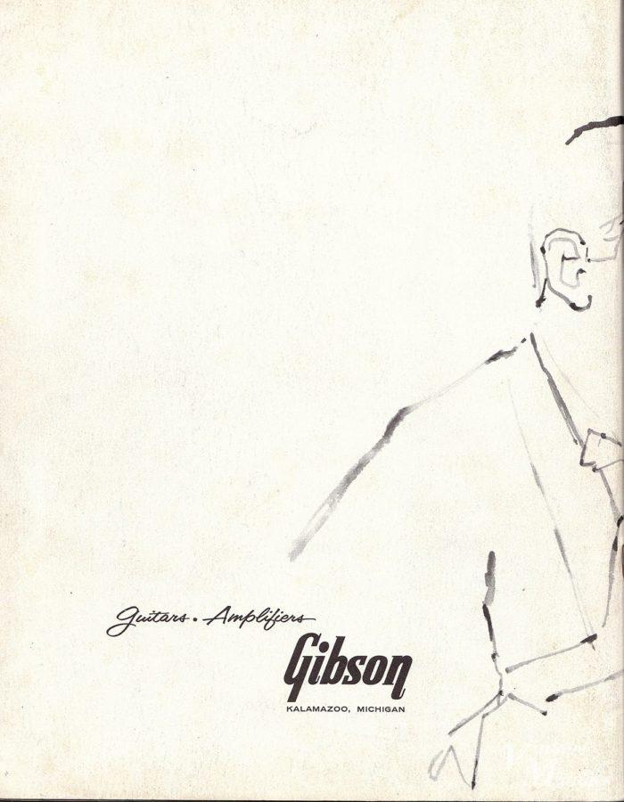 1960年のギブソン・カタログの裏表紙