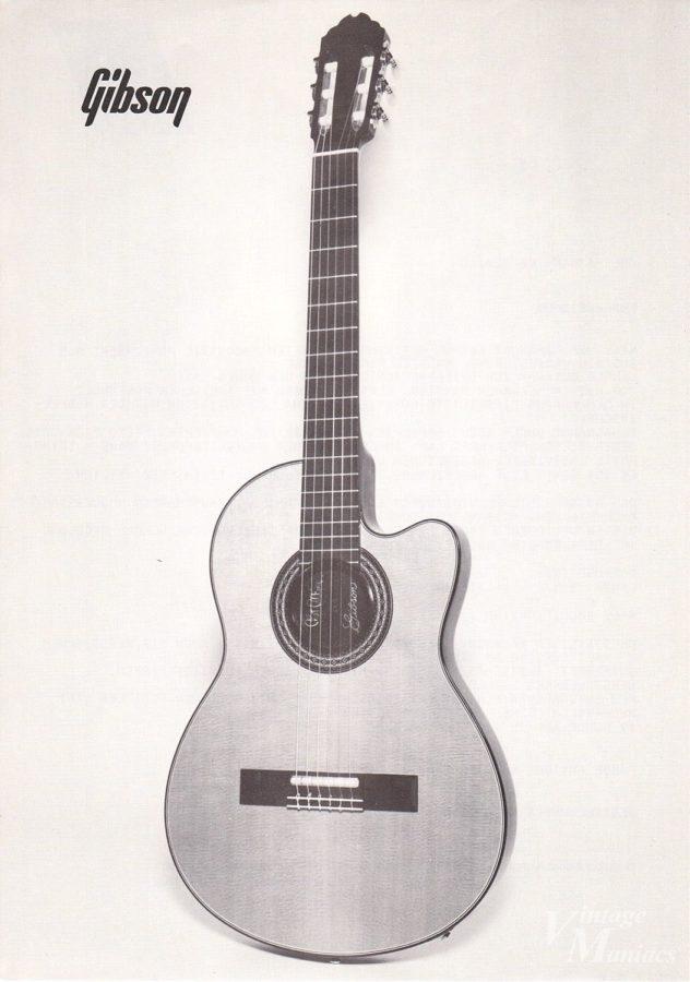 Gibson Chet Atkins CEの古いカタログ