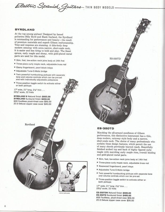 カタログに掲載されたByrdlandとES-350TD