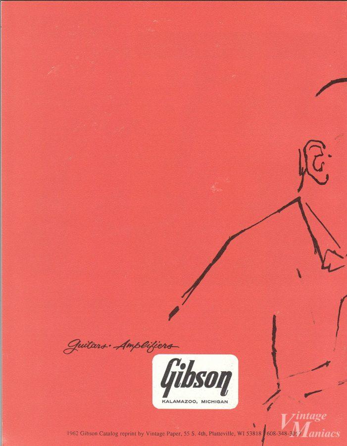 1961年のギブソン・カタログの裏表紙