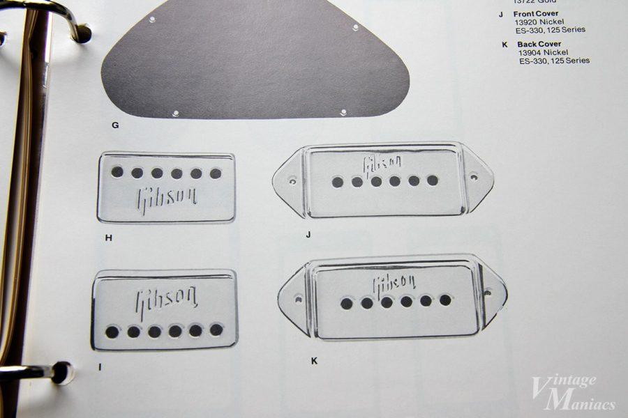 メタルタイプのP-90用ロゴ刻印PUカバー