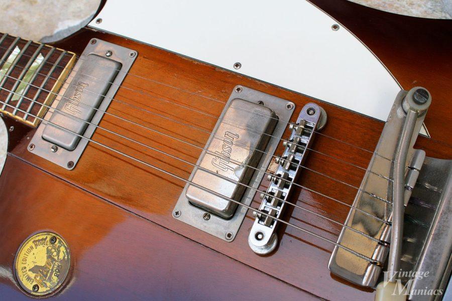 Gibsonロゴ入りピックアップ搭載のファイヤーバード