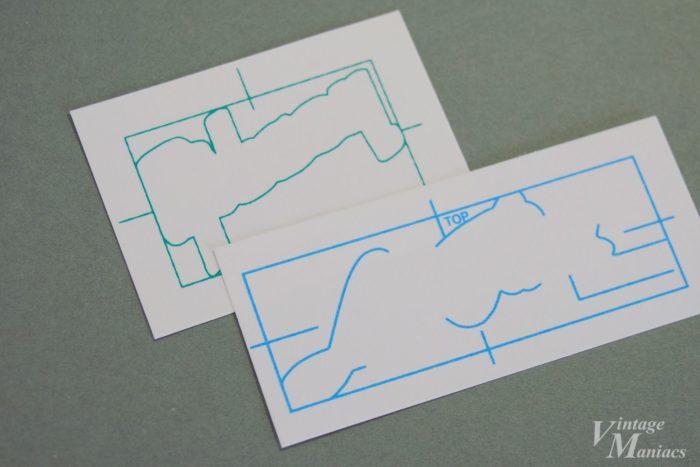 位置決めのパターンが印刷された裏面