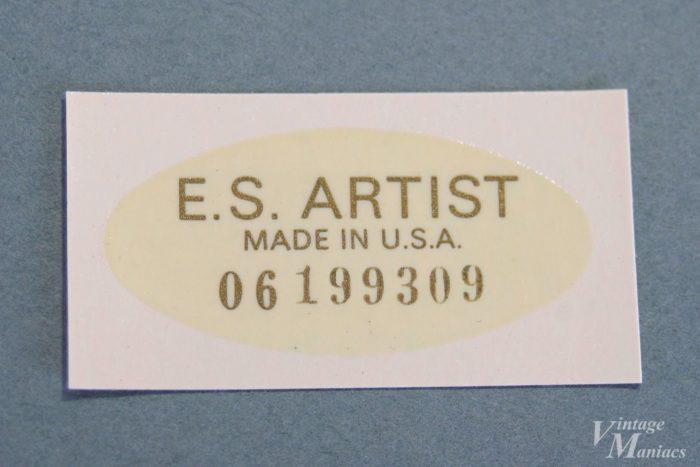 ES-Artist用のシリアル入りデカール