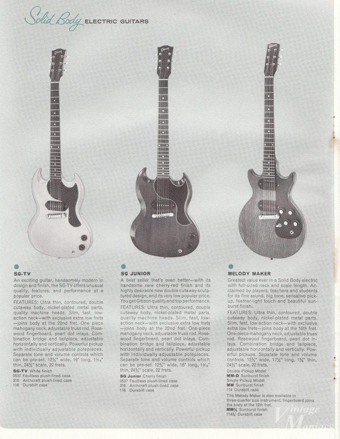 1963年のギブソン・カタログに掲載されたメロディーメーカー