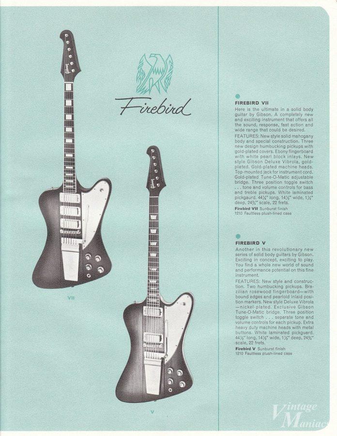 1963年のギブソン・カタログに掲載されたリバース・ファイヤーバード