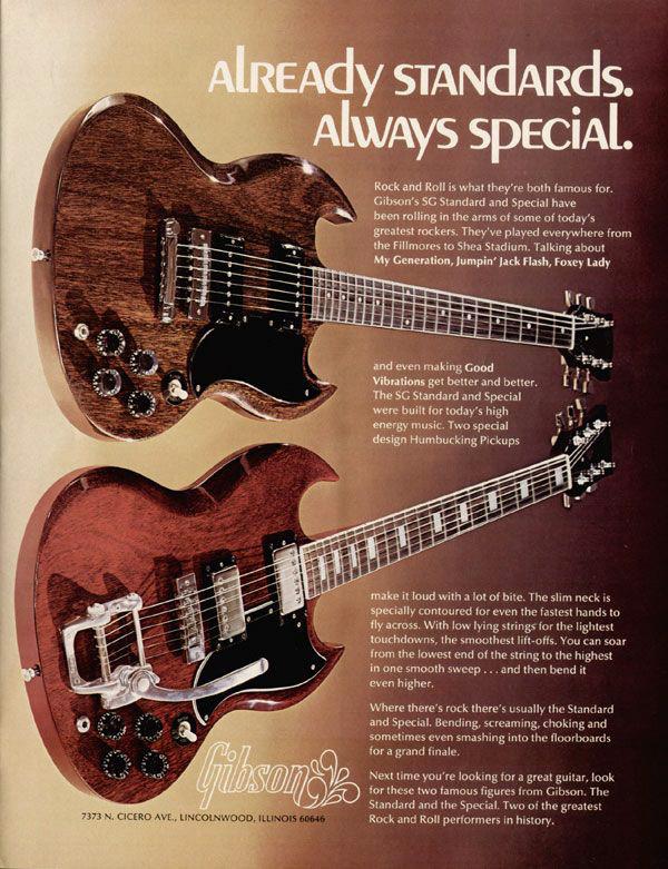 ギターの販促用チラシ