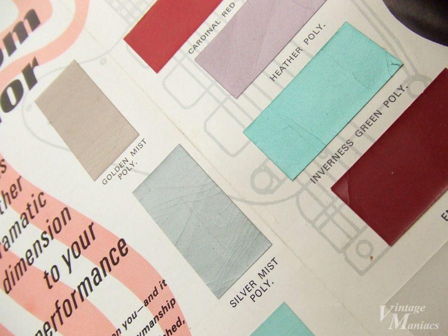 ギブソンの塗装見本カラーチャート