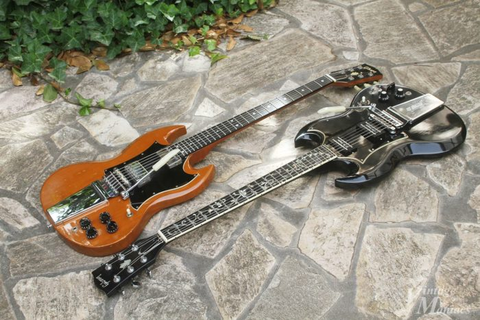 改造された2本のSGギター