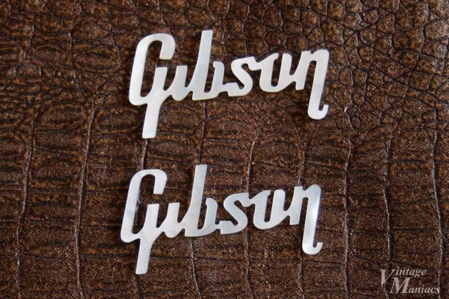 59年前半と後半で違うギブソンのヘッドストックロゴ