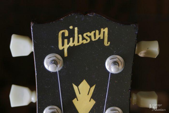 Oの内周が平行になっていないギブソンのロゴ