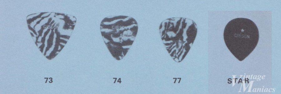 ギブソンのカタログに掲載されたピックの拡大画像