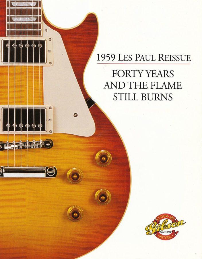 北米で頒布された40th Anniversaryレスポールのリーフレット