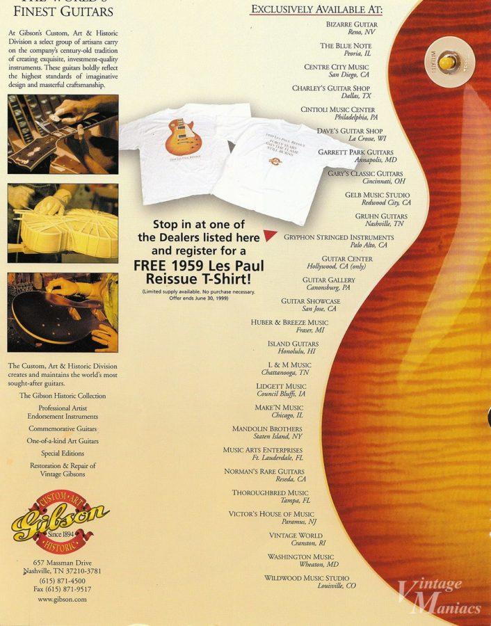 40th Anniversaryレスポールを取り扱える楽器店は少数だった