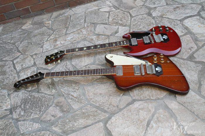 ショートヴァイブローラを搭載したギター