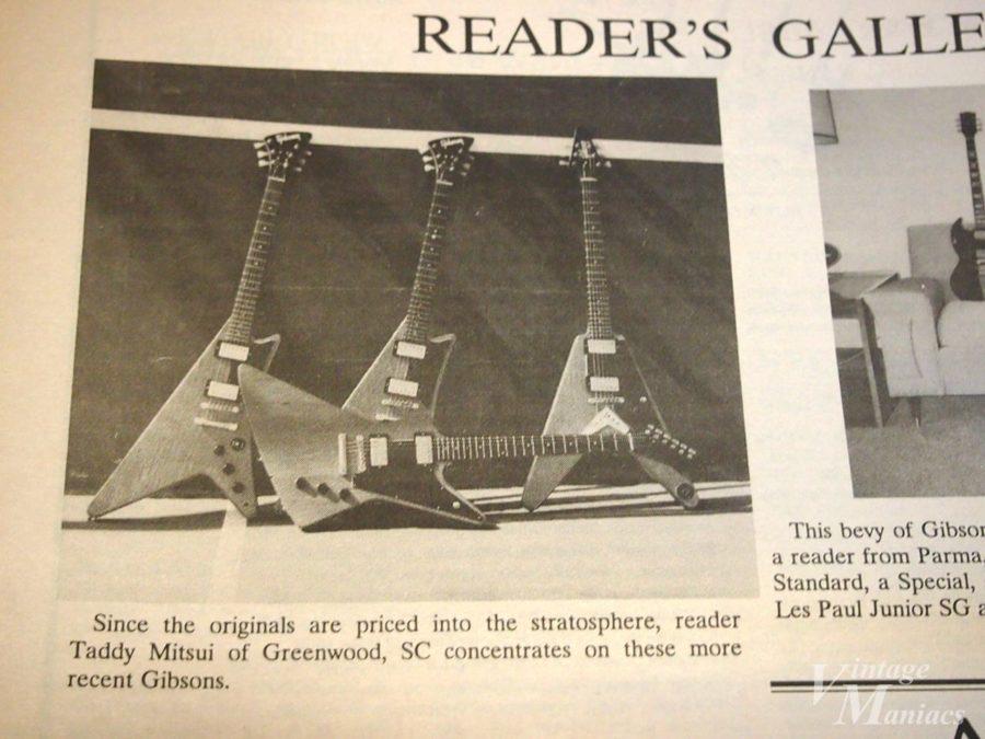 Vintage Guitar Magazineに掲載された筆者のギター