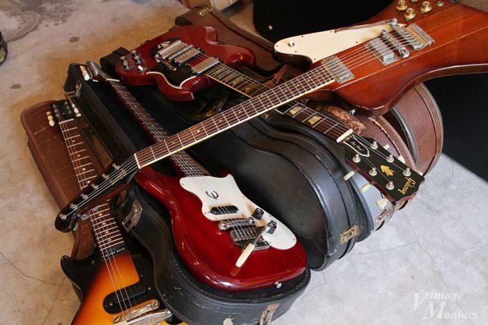エボニーブロックを搭載する前のギター
