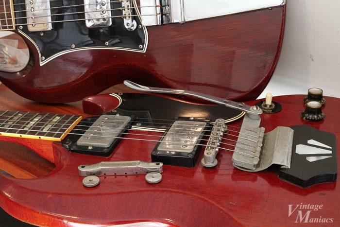 ヴァイブローラ搭載ギターとABR-1ブリッジ