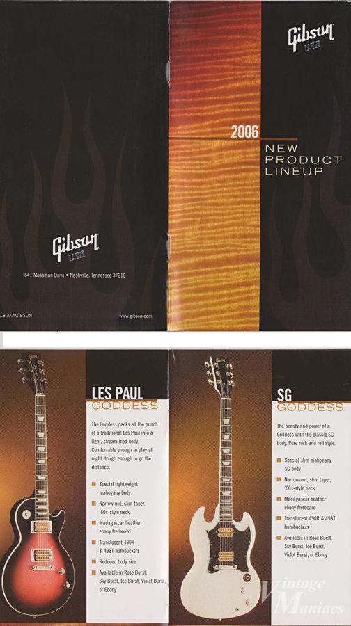 Gibson SG Goddessのカタログ