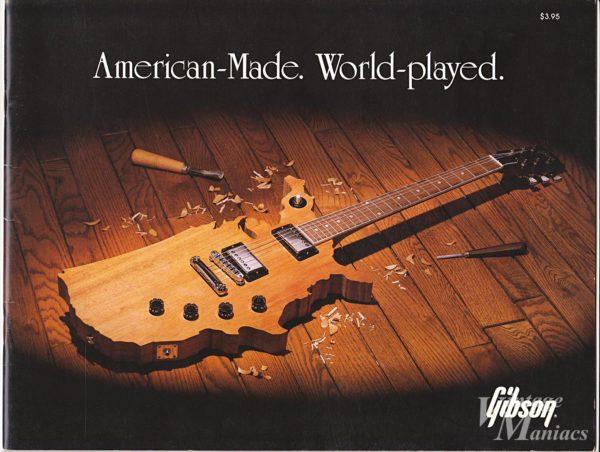 ギブソン・マップギターが表紙のカタログ