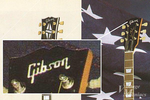 別のカタログの30thレスポールGTのGibsonロゴ