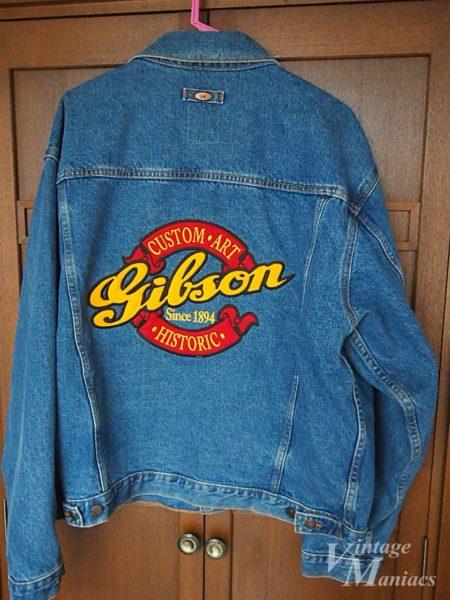 ヒストリックロゴのギブソン純正デニムジャケット