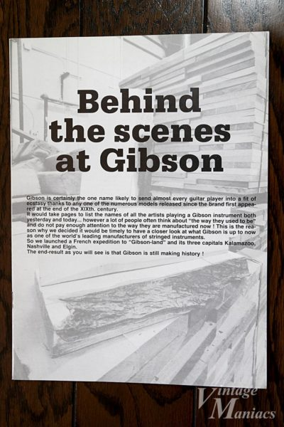 Behind the scenes at Gibsonというブックレット