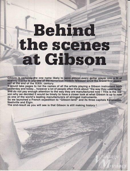表紙に記載されたギブソンの拠点