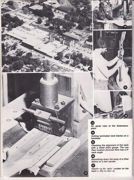 ヘッドストックにシリアル・スタンプを打つ機械