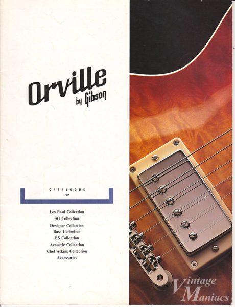 1992年のオービルバイギブソンのカタログ