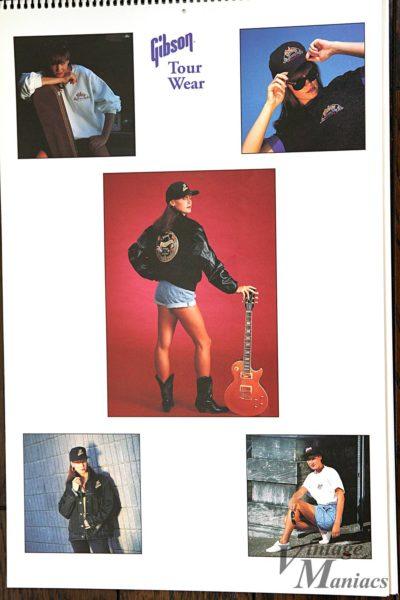 ギブソングッズを身に着けた女性の写真