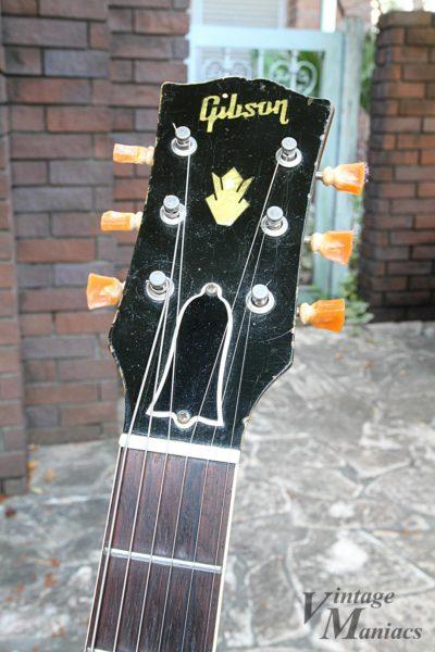 ヴィンテージのES-335のヘッドストック