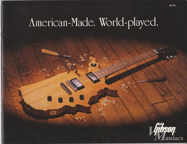 ギブソンのマップギターが表紙のカタログ