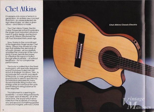 チェット・アトキンス・モデルが掲載されたカタログのページ