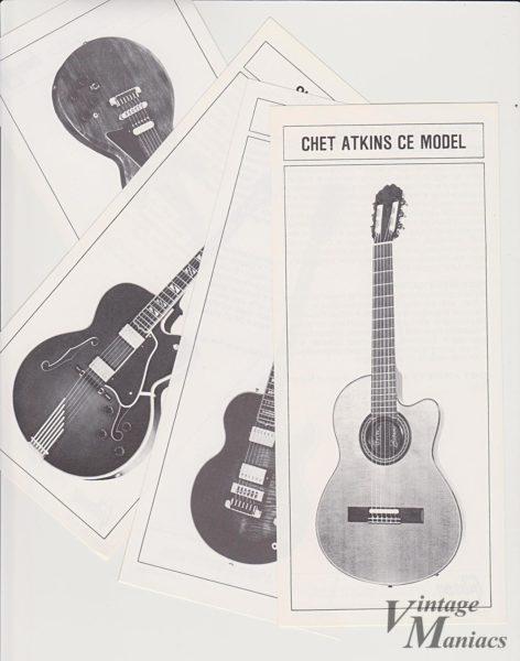 短冊カタログに掲載されたチェット・アトキンス・モデル