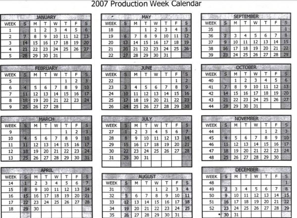 ギブソンの2007年のギター製作カレンダー