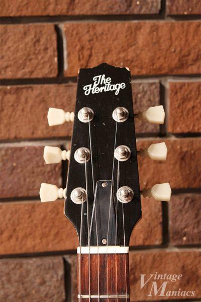 Heritage Guitarsのヘッドストック