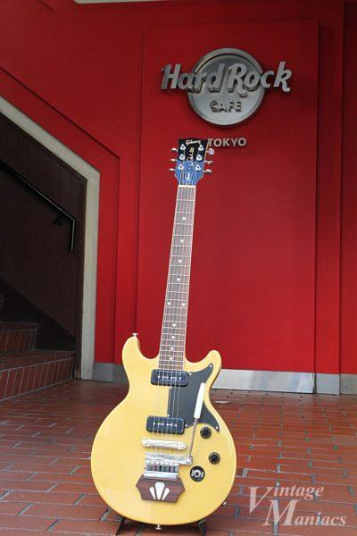 Les Paul Special TV Yellowとハードロックカフェのエントランス