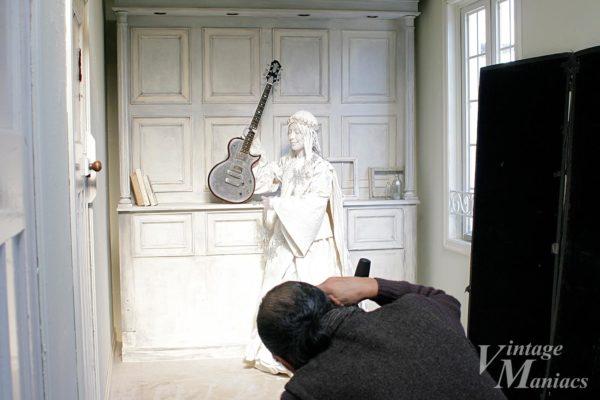 ストリートパフォーマーの紫穂さん(奏神)とZemaitis Guitar