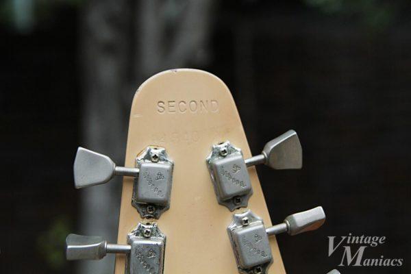 フライングVのヘッドストックのSECOND刻印