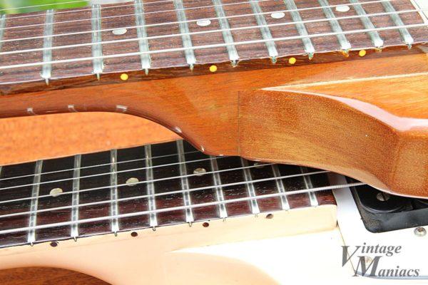 横から見たギターのネック